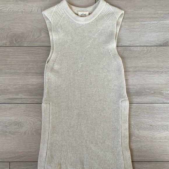 ARITZIA Wilfred sleeveless knit sweater in XXS
